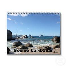 Scenic Caribbean - Tropical Paradise Wall Calendar #zazzle