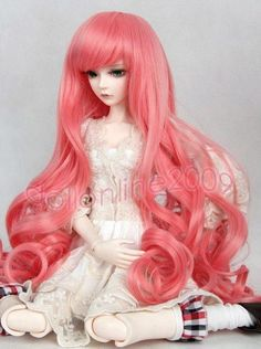 "New 1//3 Girl BJD SD Doll Wig Dollfie 8-9/"" DZ DOD LUTS Bjd Doll Wig Bend Wavy Wig"