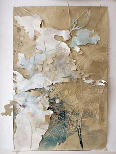 Val Britton - our ongoing excavation. Ink, pencil, collage and cut-out on paper; x - maquette in vorm van collage Mixed Media Collage, Map Collage, Art Plastique, Map Art, Medium Art, Textile Art, Fiber Art, Art Projects, Abstract Art
