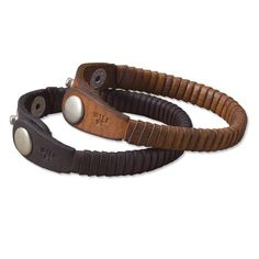 "Christmas gift for boyfriend? :) This wrap bracelet for men is made from deeply tanned full-grain leather that ensures handsome looks that gain a rich patina over time. Three-snap design offers adjustability. Leather wrap bracelet for men in saddle, brown. 10""L x ½""W. Imported."