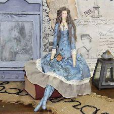 Vintage Künstlerpuppe Tilda-Stil 47 cm Dekopuppe Shabby Stoffpuppe Handarbeit