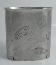 $130 RARE Small Size Wendell August Hand Hammered Aluminum Waste Paper Basket Can