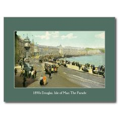 1890s Isle of Man, Douglas, The Parade postcards