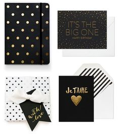 Black + Gold from Sugar Paper