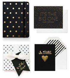 Black + Gold Paper Goods | Sugar Paper
