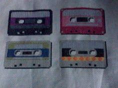 retro cassette tapes xstitch