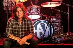 Zac Hanson and his sweet drum set from the Anthem Tour.