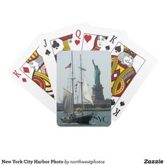 New York City Harbor Photo Playing Cards