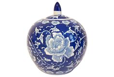 Blue Peony Jar on OneKingsLane.com