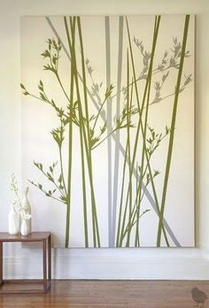 DIY canvas. Easy if you use painters tape for stems.