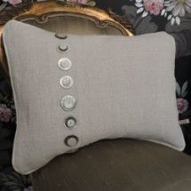 Vintage Buttons Cushion - Francis and Delany