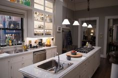 madam secretary kitchen - Long skinny kitchen
