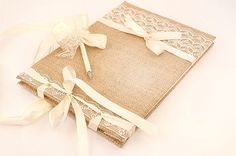 Wedding Guest Book Traditional Retro Rustic by LenaWeddings My Greek Wedding, Hooray Hooray, Rustic Wedding Guest Book, Rustic Weddings, Guest Books, Marry Me, Retro Vintage, Gift Wrapping, Romantic