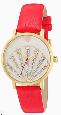 8d34aacbbc03 pretty red kate spade shell watch Fashion Watches