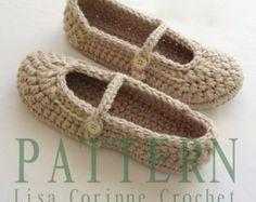 Zapatillas de Novia de ganchillo patrón por LisaCorinneCrochet