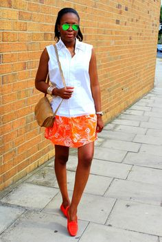 Balmain shirt dress feat Prada loafers