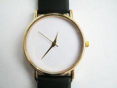 Leather Watch, ladies watch, Wrist watch gift,Unisex Watch,women's accessories, Gold Case, Christmas gift by SovietCrimea on Etsy https://www.etsy.com/listing/215922867/leather-watch-ladies-watch-wrist-watch