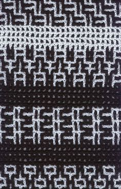 Intermeshing (double filet) crochet sample from James Walters and Sylvia Cosh website ༺✿ƬⱤღ https://www.pinterest.com/teretegui/✿༻