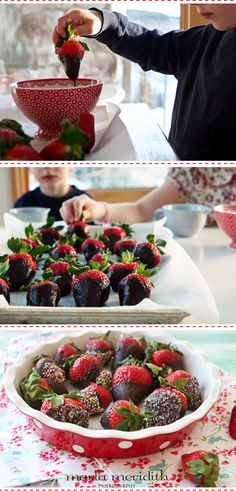 Chocolate Covered Strawberries   A Healthy Treat   MarlaMeridith.com