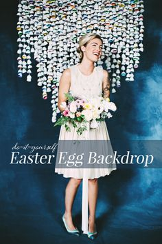 DIY Easter Egg Backdrop   Ruffled
