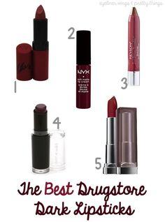 The BEST Drugstore Dark Lipsticks - eyeliner wings & pretty things