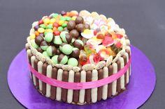 Fabulous Pick 'n' Mix Chocolate Fingers Cake by Jenny Paulin #BAKEoftheWEEK