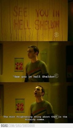 the big bang theory sheldon cooper my thoughts exactly bad grammar