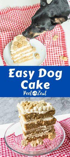 Dog Safe Cake Recipe, Dog Cake Recipes, Dog Treat Recipes, Gluten Free Birthday Cake, Birthday Treats, Dog Birthday, Recipe Ingredient Substitutions, Greek Yogurt And Peanut Butter, Dog Cakes