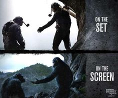 On the Set to On the Screen. Andy Serkis is one of his best motion capture actings.