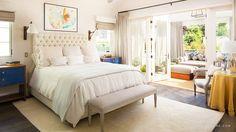 Ivory Tufted Headboard - Transitional - garage - Domaine Home Dream Bedroom, Home Bedroom, Bedroom Decor, Pretty Bedroom, Bedroom Ideas, Shabby Bedroom, Bedroom Retreat, Style At Home, Domaine Home
