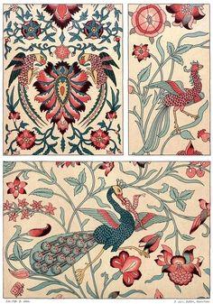 From Galería del arte decorativo (Gallery of… Persian Pattern, Persian Motifs, Islamic Art Pattern, Pattern Art, Art Chinois, Scrapbook Blog, Art Japonais, Iranian Art, Arabic Art
