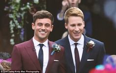 The big reveal: Tom Daley and his husband Dustin Lance Black have shared personal footage from their wedding on YouTube, three months after tying the knot at Bovey Castle near Plymouth