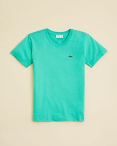 Lacoste Boys' Classic Jersey V Neck Tee - Sizes 2-16