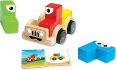 SmartCar - Wooden 3D puzzle and toy for kids