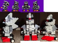 Silver Sonic Robot | Sonic 2 Silver Sonic Boss Robot Lego