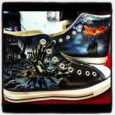 48fb8f6f8f5d Souped-Up Kicks  20 Awesome Pairs Of Geeky Hand-Painted Sneakers