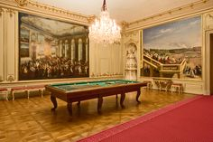 Billiard Room at Schönbrunn Palace, Vienna, Austria. - http://www.schoenbrunn.at/en/things-to-know/palace/tour-of-the-palace/billiard-room.html