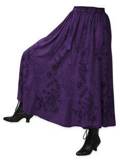 Swirl Skirt - Violet