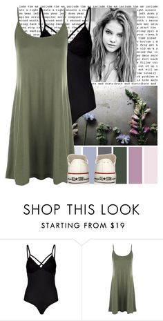 """""""101"""" by sarah-e-k ❤ liked on Polyvore featuring Lipsy, WearAll and Converse"""
