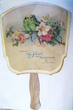 Singer Sewing Machine Co. 1902 Hand Fan 51st Year Commemorative