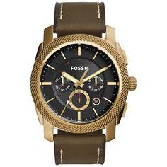 Fossil Men's Machine Chronograph Dial Green Watch FS5064