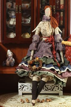 Куклы Тильды ручной работы. Ярмарка Мастеров - ручная работа. Купить Моника осенний ангел(кукла тильда) 58 см. Handmade. ☆