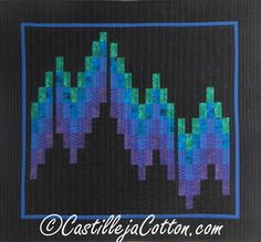 New Quilt Patterns - Bargello Northern Lights Quilt Pattern Fish Quilt Pattern, Bargello Quilt Patterns, Bargello Quilts, Batik Quilts, Jellyroll Quilts, Snowflake Quilt, Ribbon Quilt, Flower Quilts, Quilting Designs