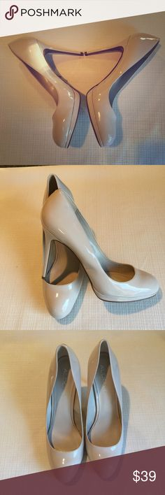 "Aldo Nude Patent Pumps Size 11 Brand new with sticker on the bottom. Nude patent/4.5"" heel/.5"" platform. Aldo Shoes Heels"