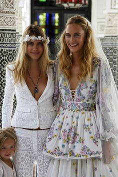 Poppy & Cara Delevingne. 10 Best Celebrity Weddings 2014 | Bridal Musings Wedding Blog 3