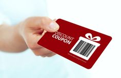 Photo about Gold christmas coupon holded by hand over white background. focus on coupon. Image of holding, gold, code - 47475896