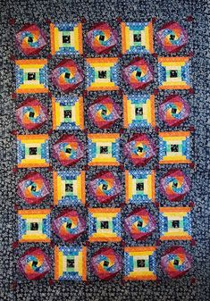 Quilted Delights: Island Batik Log Cabin Blog Hop Fabric Postcards, Mini One, Log Cabin Quilts, Half Square Triangles, Flying Geese, Shirt Quilt, Black Fabric, Quilt Making, Pin Cushions