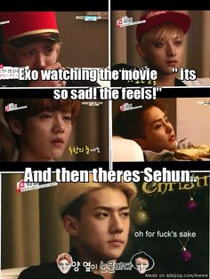 Aww EXO is crying