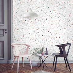 Papier-peint Granite style Terrazzo, 95 € le rouleau, Papermint
