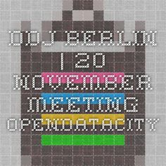 DDJ-Berlin | 20 November meeting OpenDataCity